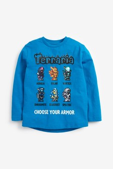 Blue Terraria T-Shirt (3-16yrs)