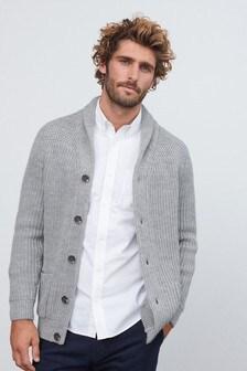 Light Grey Shawl Cardigan