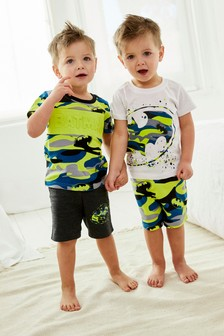 Green Camo Batman® 2 Pack Short Pyjamas (9mths-12yrs)
