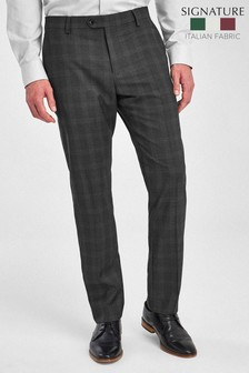 Charcoal Signature Birdseye Check Slim Fit Suit