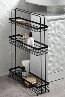 Black Slimline Storage Unit