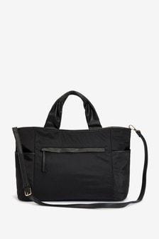 Black Multi Compartment Tote Bag