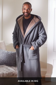 Grey Borg Lined Dressing Gown