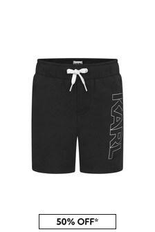 Karl Lagerfeld Boys Black Swim Shorts