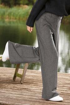 Grey Emma Willis Wide Leg Textured Trousers