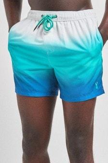 Aqua Ombre Print Swim Shorts