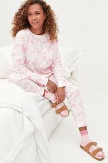 Pink Tie Dye Cotton Pyjamas