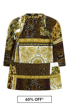 Versace Baby Girls Gold Cotton Dress