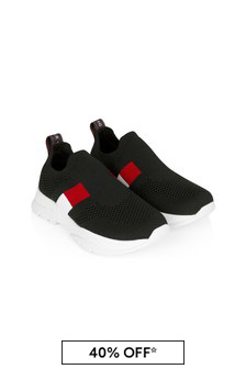 Tommy Hilfiger Kids Black Trainers