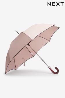 Neutral/Black Large Umbrella