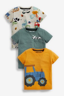 Tractor 3 Pack T-Shirts (3mths-7yrs)