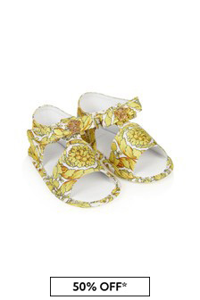 Versace Baby Girls White Leather Sandals
