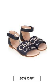 Chloe Kids Girls Navy Sandals