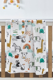 Multi Jungle Supersoft Blanket