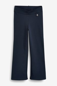 Navy Jersey Boot Cut Trousers (3-16yrs)
