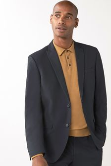 Navy Two Button Suit: Jacket