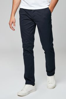 Navy Stretch Chinos
