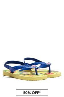 Havaianas Baby Boys Yellow Peppa Pig Flip Flops