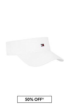Tommy Hilfiger Kids White Cotton Hat