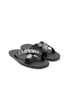 Emporio Armani Boys Black Sandals