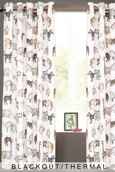 Multi Safari Days Eyelet Blackout Curtains