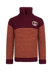 GUCCI Kids Boys Knitted Turtle Neck Jumper