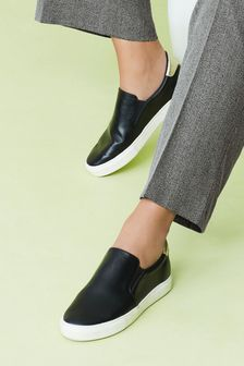 Black Forever Comfort® Slip-On Trainers