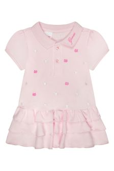 Guess Baby Girls Pink Cotton Bodysuit Dress