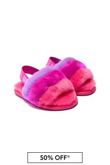 UGG Girls Pink Fluff Yeah Sandals