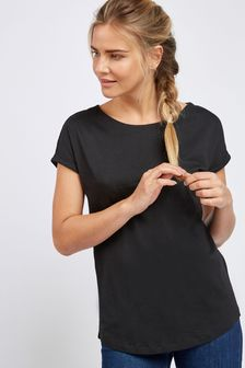 Black Cap Sleeve T-Shirt