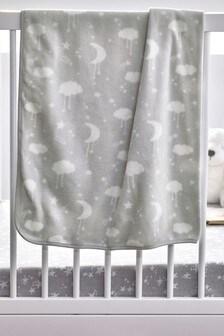 Grey Supersoft Fleece Blanket