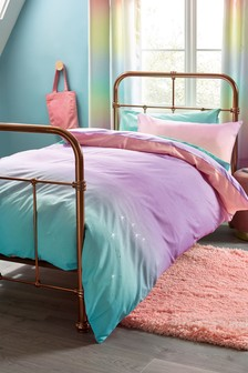 Purple Magical Ombre Glitter Duvet Cover And Pillowcase Set
