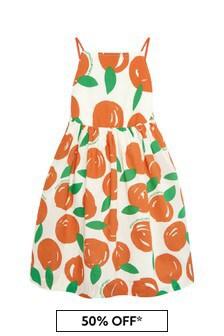 Stella McCartney Kids Girls Orange Cotton Dress