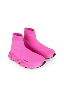 Balenciaga Kids Girls Pink Speed Trainers