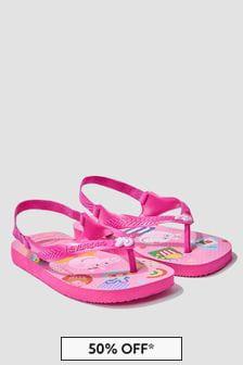 Havaianas Baby Girls Pink Peppa Pig Flip Flops