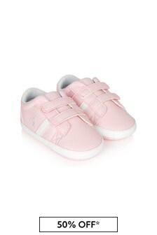 Ralph Lauren Kids Baby Girls Pink Oakview Trainers