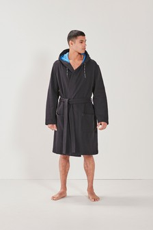 Black Jersey Dressing Gown