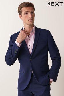 Bright Blue Two Button Suit: Jacket