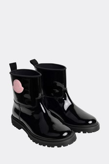 Moncler Enfant Girls Black Rain Boots