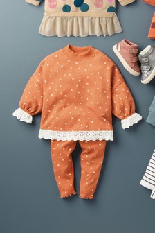 Rust Lace Sweat Co-ord Set (3mths-7yrs)