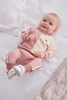 Pink Sweatshirt And Jogger Set (0mths-2yrs)