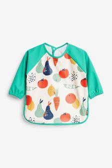Vegetable Print Sleeved Bib