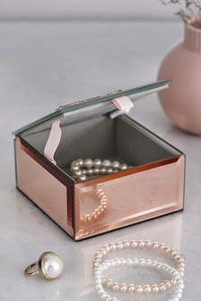 Rose Gold Brooch Jewellery Box