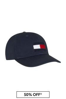Tommy Hilfiger Kids Navy Cotton Hat