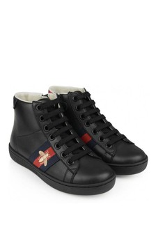 GUCCI Kids Leather High Top Trainers