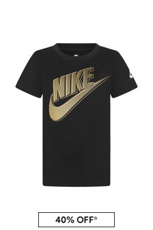 Nike 보이즈 블랙 코튼 티셔츠