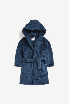Navy Blue Soft Touch Fleece Dressing Gown (1.5-16yrs)