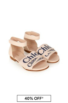 Chloe Kids Girls Pink Sandals