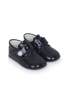 Andanines Baby Boys Navy Leather Shoes