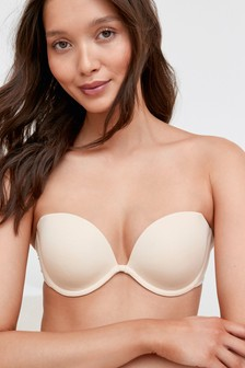 Nude Clear Back Multiway Bra